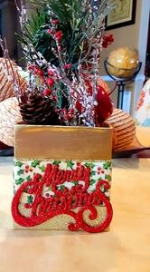 Golden Christmas Decorative Boxes